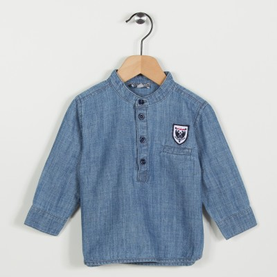 Nouvelle forme chemise denim - Indigo