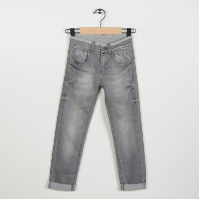 Jean slim gris 5 poches - Gris moyen