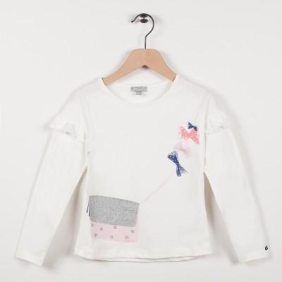 Tee-shirt avec volants - Ecru