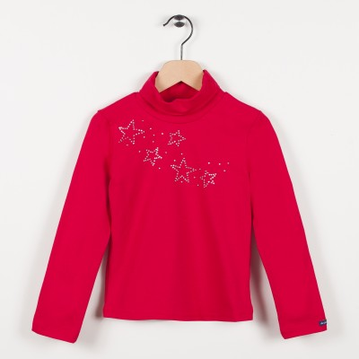 Sous-pull avec strass - Rouge