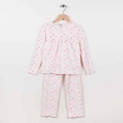 Pyjama en velours imprimé - Rose pale