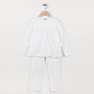 Pyjama en jersey imprimé - Blanc