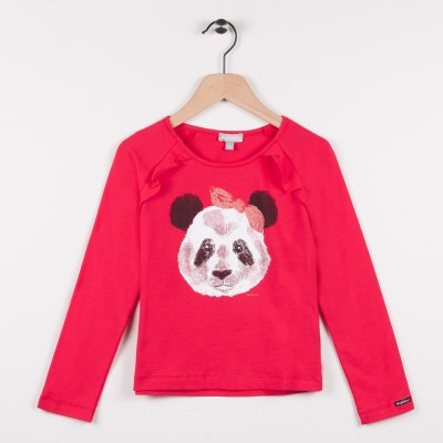 Tee-shirt avec motif panda - Vermillon
