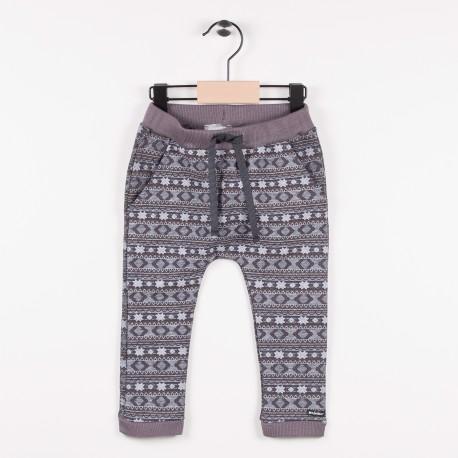 Pantalon en maille fantaisie - Gris fonce