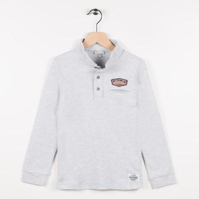 Polo en jersey gris - Gris clair