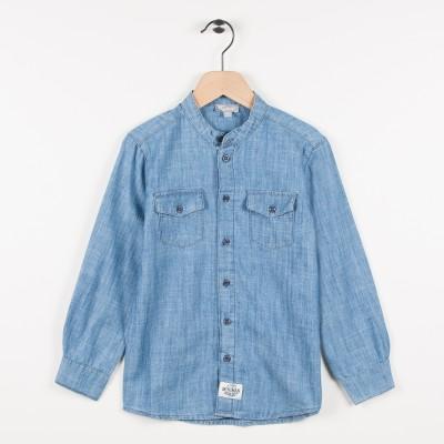 Nouvelle forme chemise en jean - Indigo