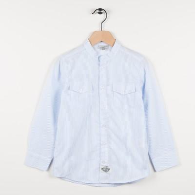 Nouvelle forme chemise rayée - Bleu ciel