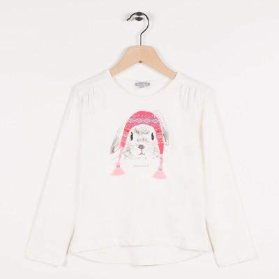Tee-shirt avec motif lapin - Ecru
