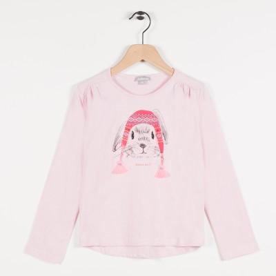 Tee-shirt avec motif lapin - Rose pale