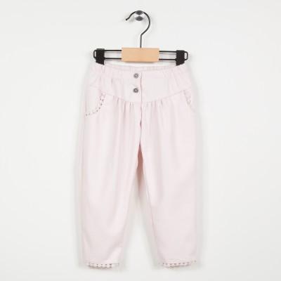 Pantalon avec taille élastiquée - Rose pale