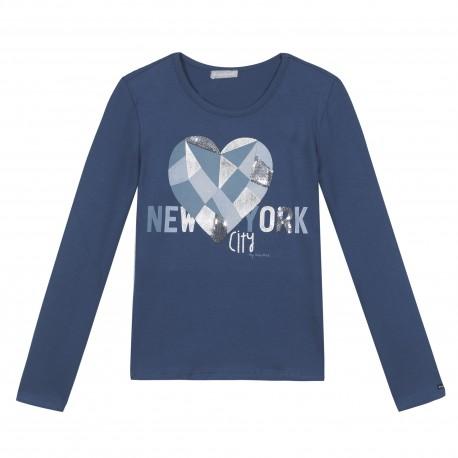 37189f31e20 Tee-shirt avec motif cœur - Bleu canard - Miniman Shop