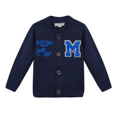 Gilet bleu marine en coton - Marine