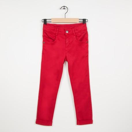 Jean slim avec stretch - Rouge fonce