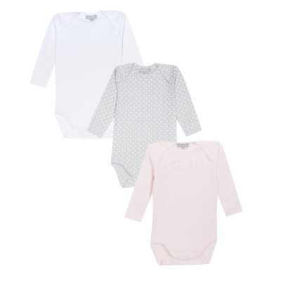 Lot de 3 bodies à encolure américaine - Rose pale