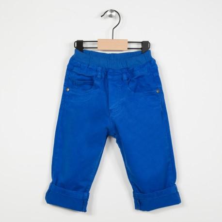 Pantalon 5 poches avec taille élastiquée - Bleu roi