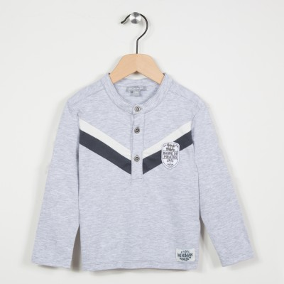 Polo gris col droit - Gris clair