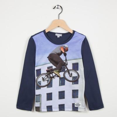 Tee-shirt motif façon photo - Gris fonce