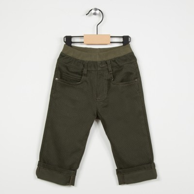 Pantalon 5 poches avec taille élastiquée - Kaki