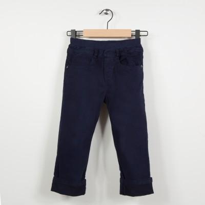 Pantalon 5 poches avec taille élastiquée - Marine