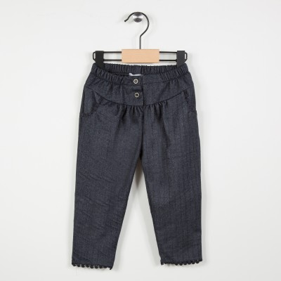 Pantalon avec taille élastiquée - Marine