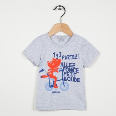 Tee-shirt avec motif imprimé - Gris clair