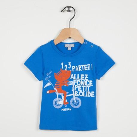Tee-shirt avec motif imprimé - Bleu