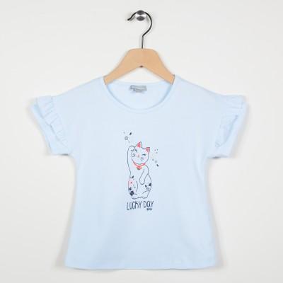 Tee-shirt avec volants