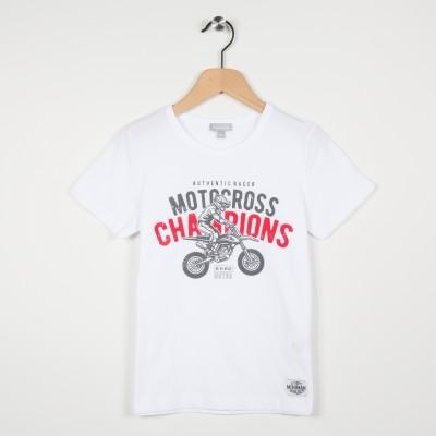 Tee-shirt garçon motif motocross