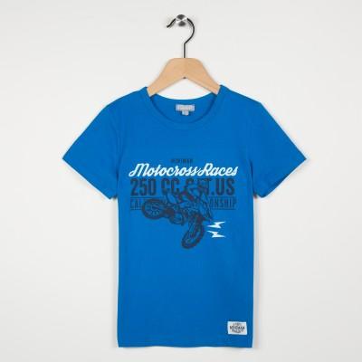 Tee-shirt manches courtes motif moto
