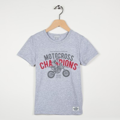 Tee-shirt manches courtes motif motocross