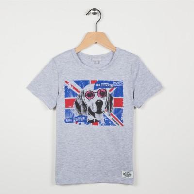 Tee-shirt manches courtes motif illustré