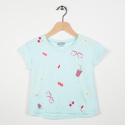 Tee-shirt manches courtes motifs fantaisies