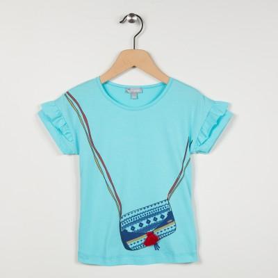 Tee-shirt manches courtes motif sac
