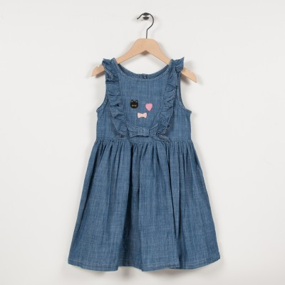 Robe en denim léger