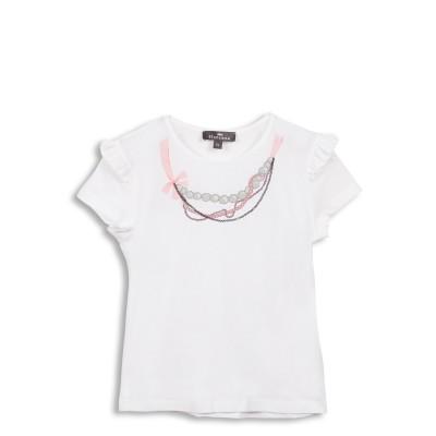 Tee-shirt avec collier effet trompe l'œil