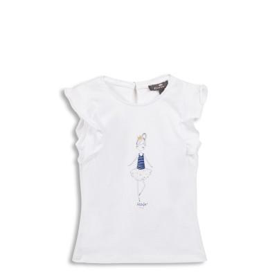 Tee-shirt avec manches volantées