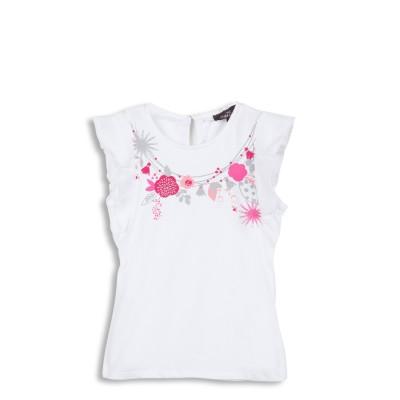 Tee-shirt avec motif collier de fleurs