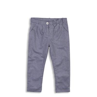 Pantalon bleu avec nœud