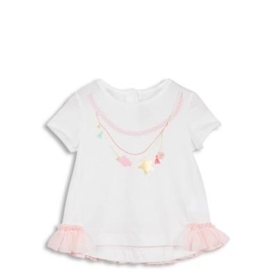 Tee-shirt blanc avec motif collier