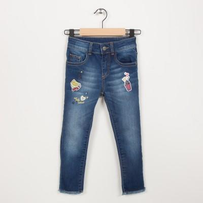 Jean skinny badges brodés