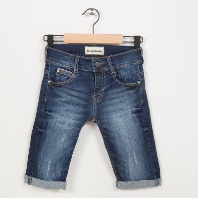 Bermuda garçon en jean slim