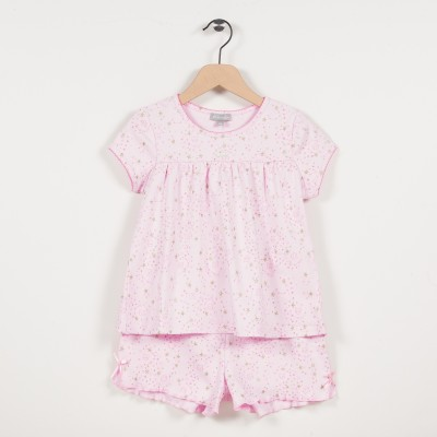 Pyjama fille en maille imprimée