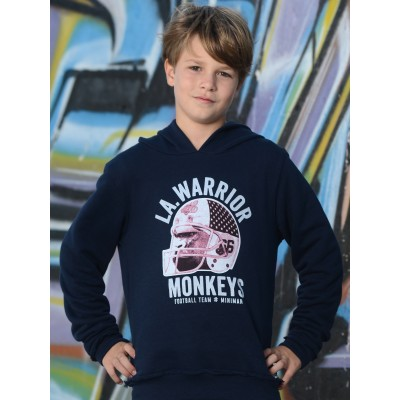Sweat-shirt à capuche  - Marine