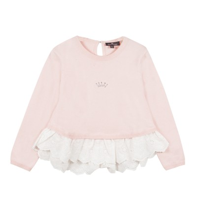 Pull avec broderie anglaise
