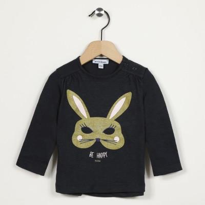 T-shirt manches longues motif lapin
