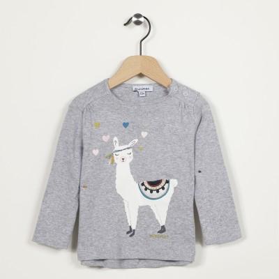 T-shirt manches longues motif lama