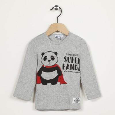 T-shirt manches longues motif panda