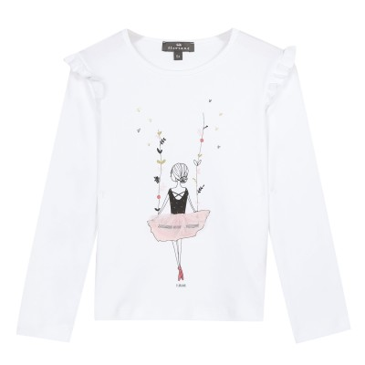 T-shirt manches longues motif ballerine
