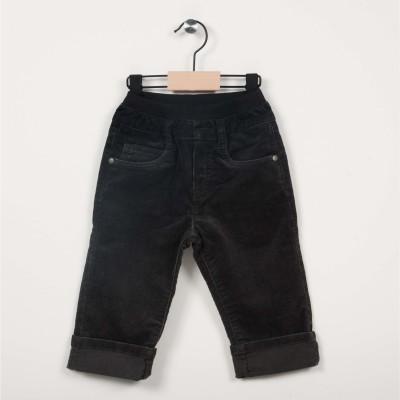 Pantalon en velours avec taille élastiquée