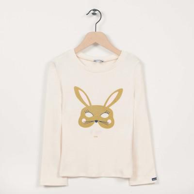 T-shirt manches longues motif lapin pailleté